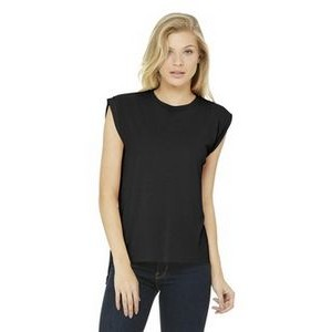 Bella+Canvas® Women's Flowy Muscle Tee Shirt w/Rolled Cuffs